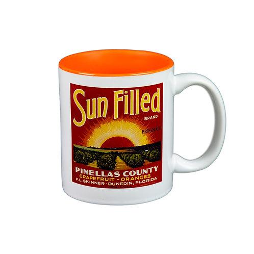 Sun Filled Citrus Label Mug
