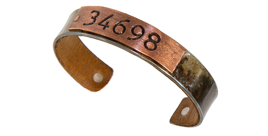 34698 Zip Code Bracelet Rust