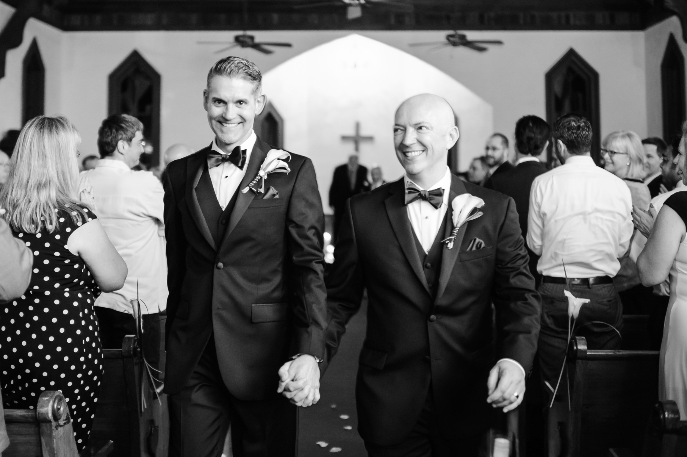 All smiles on their big day!