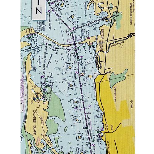 Wooden Wall Map of Dunedin - 14x6