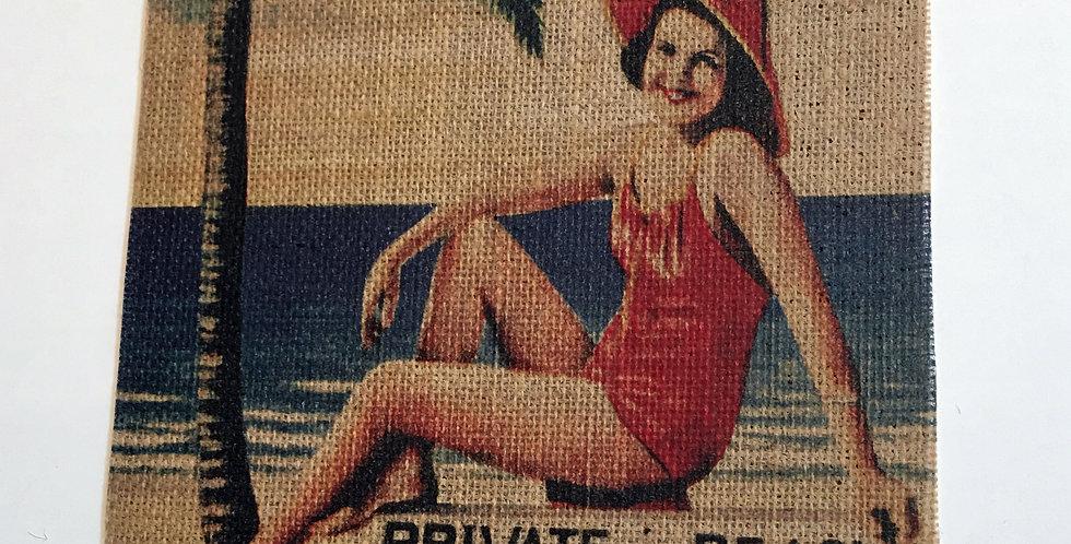 Burlap Private Beach Panel