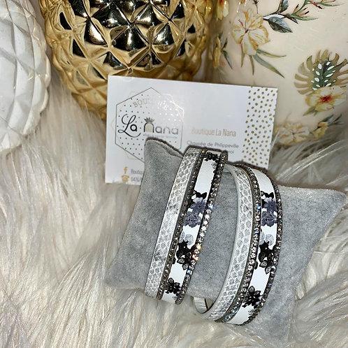 Bracelet double Argent