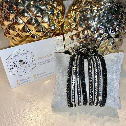 Bracelet Double Noir