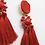 Thumbnail: Boucles d'oreilles Alia Rouges