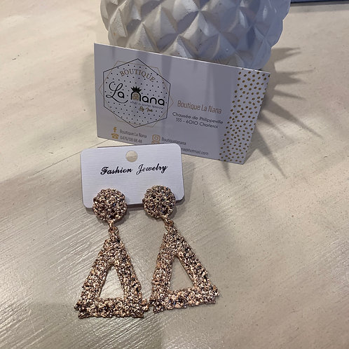 Boucles d'oreilles Aria Triangles Rose Gold