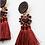 Thumbnail: Boucles d'oreilles Alia Bordeaux