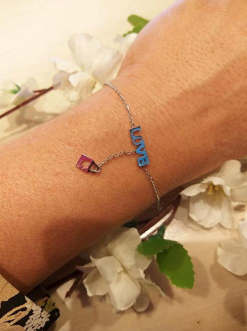 Bracelet Cadenas LOVE Argent
