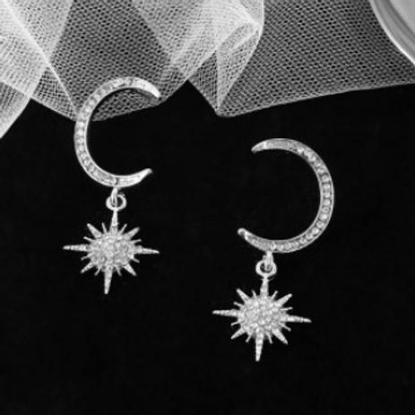 Boucles d'oreilles Estrella Argent