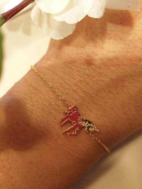 Bracelet Licorne Doré