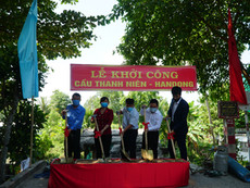 """Groundbreaking Ceremony of """"Thanh Nien - Handong Bridge"""" in Dong Thap Province"""