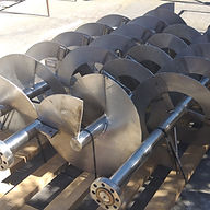 Gusanos Sinfin fabricados en Acero Inoxidable SS304 para manejo de Cebada