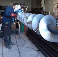 Refacciones de Gusanos Sinfín soldados en eje tubular en acero al carbón