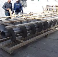 Transportadores helicoidales en acero inoxidable 316