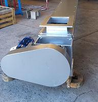 Transportador Helicoidal para manejo de Rebaba de Aluminio Caliente