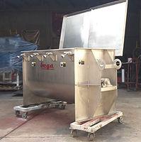 Mezcladora de Paletas Helicoidales fabricada en acero inoxidable SS304 para mezcla de fertilizantes en polvo