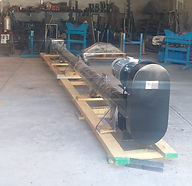 Transportador de Gusano para manejo de Caliza