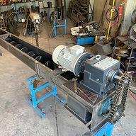 Transportador helicoidal para manejo de ceniza de carbón