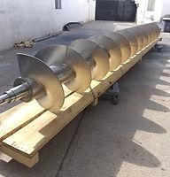 Helicoidal montado en tubo Acero inoxidable 316
