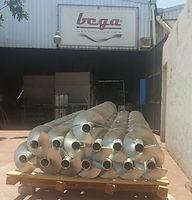Refacciones Transportadores helicoidales fabricados en acero inoxidable 304
