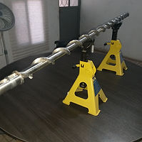 Helicoidal montado en eje sólido, paso de avance variable para manejo de polvo mineral