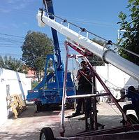 Transportador helicoidal tipo Bazooka para manejo de maíz
