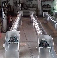 Transportadoes helicoidales para manejo de ceniza de carbón
