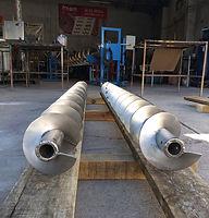 Refacción helicoidal en acero inoxidable