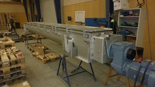 Diseño y fabricción de transportadores helicoidales
