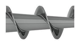 Transportador helicoidal con eje Cónico