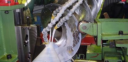 Proceso de fabricación de helicoidal tipo listón