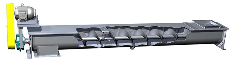 Transportador de tornillo horizontal