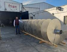Construcción de un transportador helicoidal