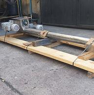 Fabricación e Instalación de Gusano Sinfin Inclinado para manejo de Pellets a alta temperatura