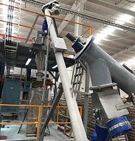 Transportadores helicoidales para manejo de carbonato en polvo para el proceso de fabricación de polímeros