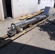 Transportador helicoidal para manejo de polvos