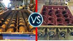 Fondo Vivo Helicoidal Shaftless vs Fondo Vivo Helicoidal montado en tubo