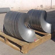 Fabricación de Helicoidales seccionales (Discos estirados) en acero inoxidable tipo 304