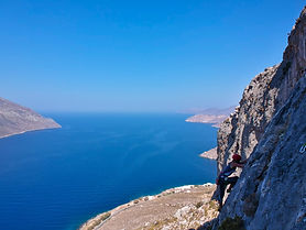 beginner, iliada, kalymnos, climbing, sea