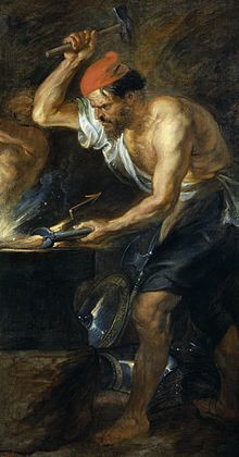 Héphaïstos forgeant les foudres de Zeus