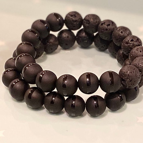 Healing Crystal Oil Diffuser Bracelets