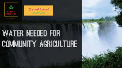 Ground Report - Water for Crops