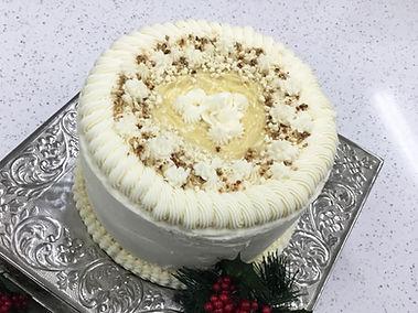 Spiced Bourbon Eggnog Cake