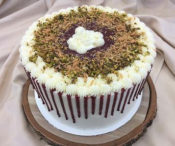 Blackberry Pistachio cake