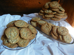 Triple Chocolate Chip No-Nut cookies
