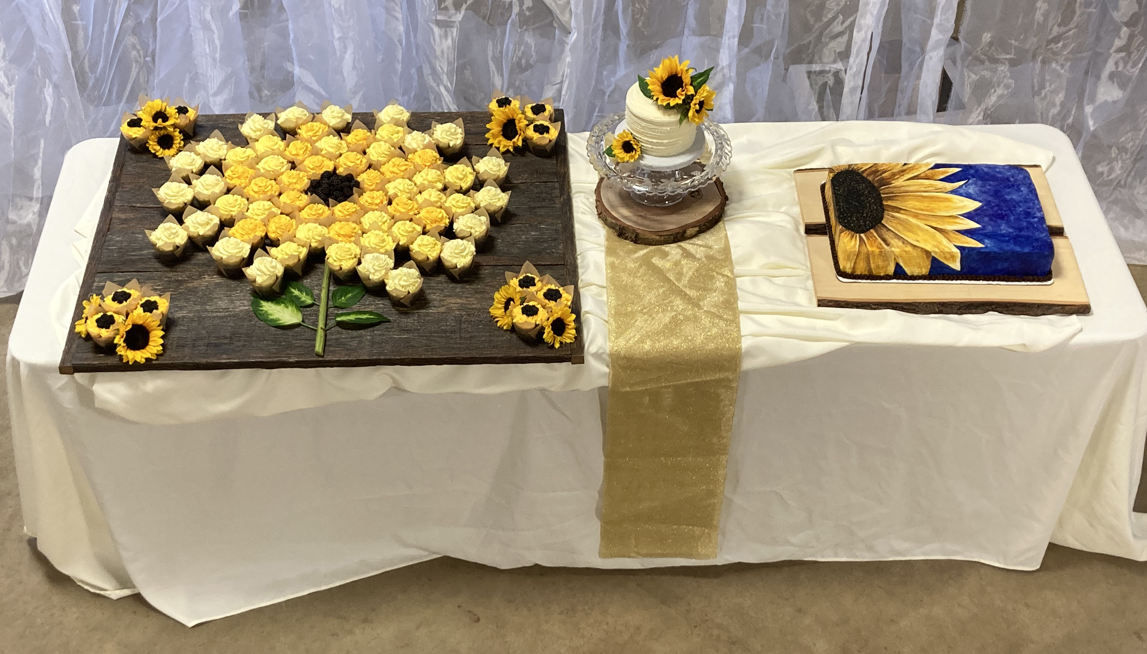 A sunflower themed wedding