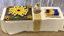 A sunflower themed wedding