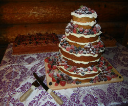 """European-inspired """"naked"""" cake"""