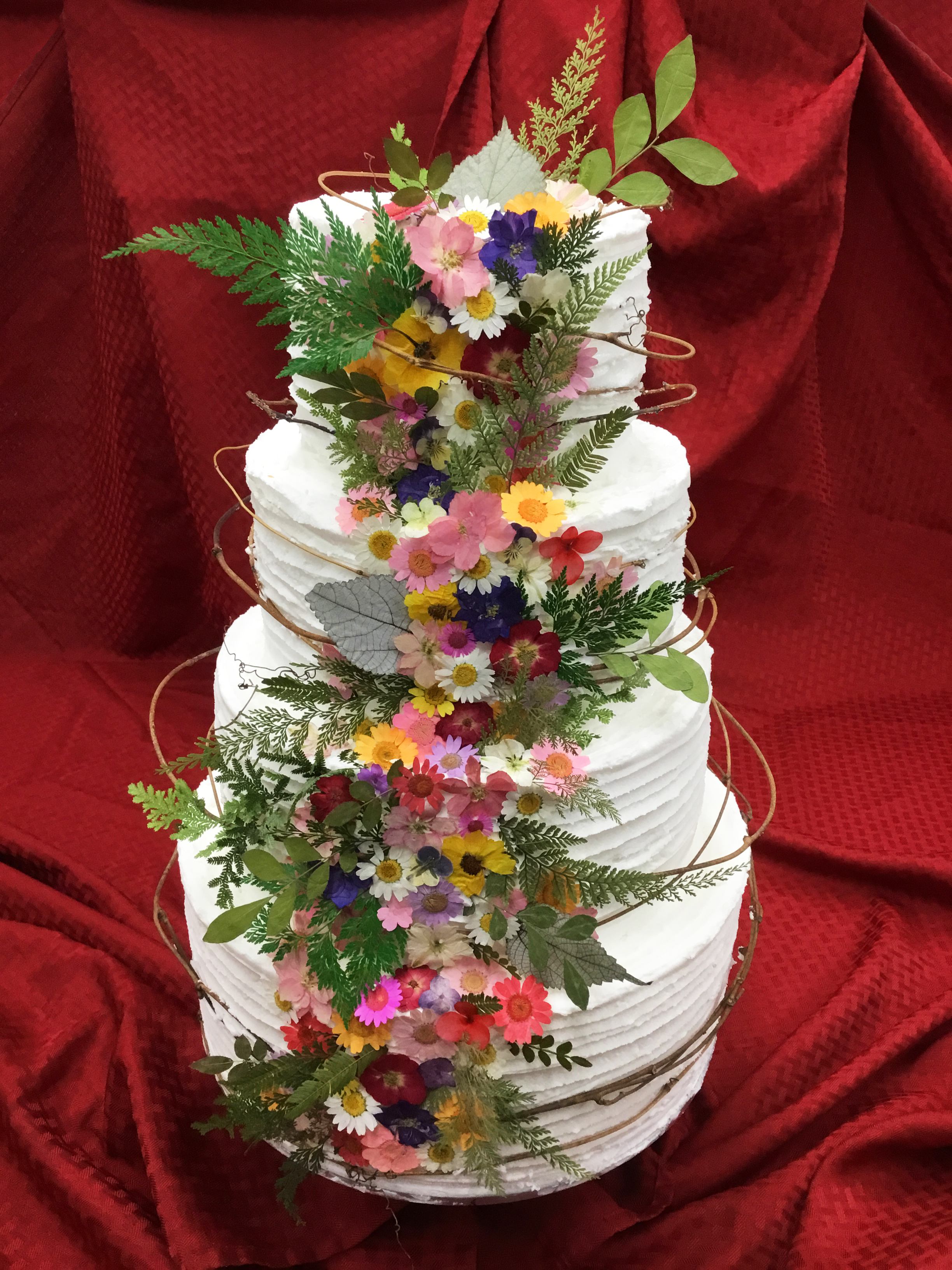 Dried Flower Tiered Cake