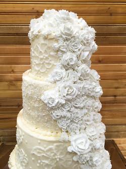 Lace cake- close up