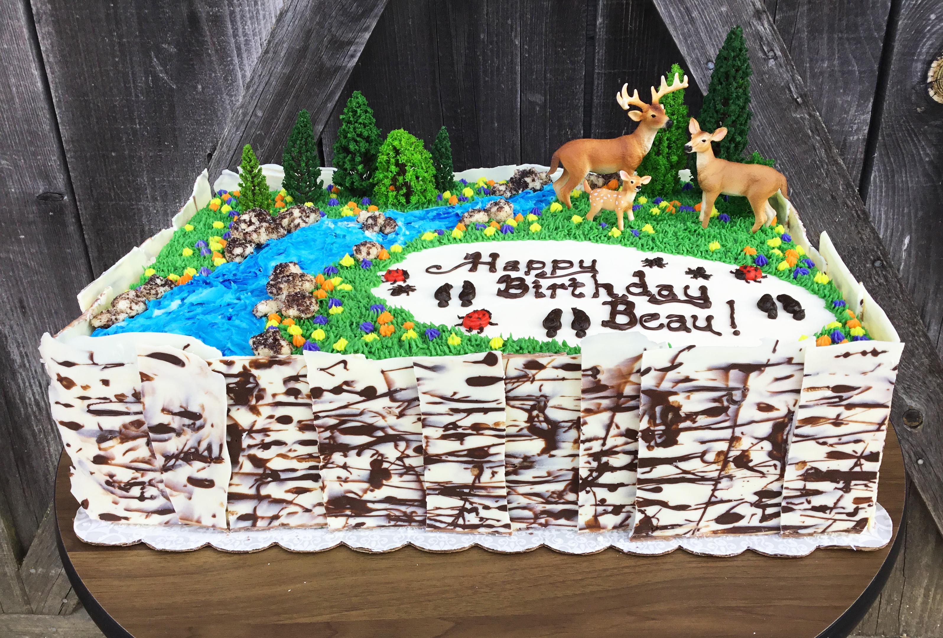 Beau's deer & bug cake